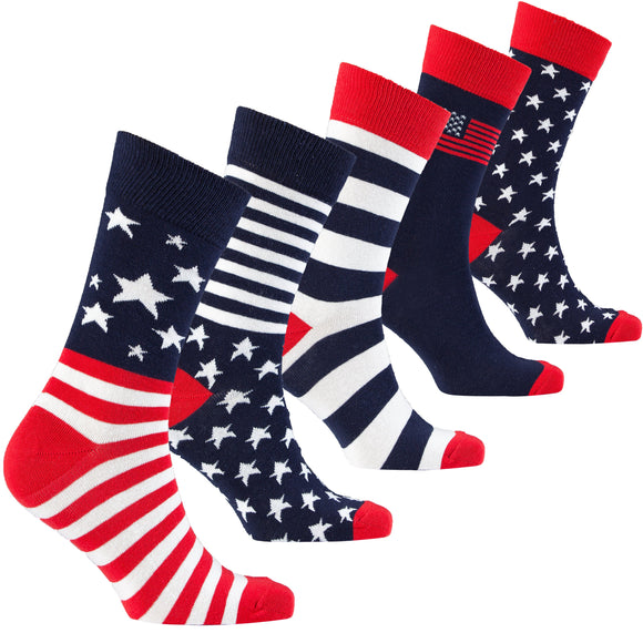 Patriot Socks | Adults | Pack of 5
