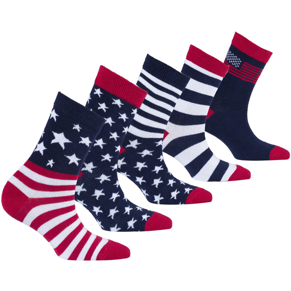 Patriot Socks | Kids | Pack of 5