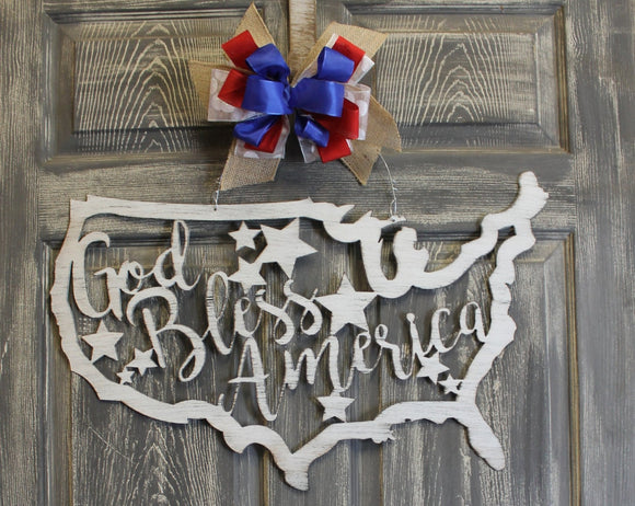 Metal Wall Art | God Bless America