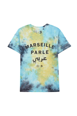 MARSEILLE PARLE عرب BLUE BLEACH TEESHIRT