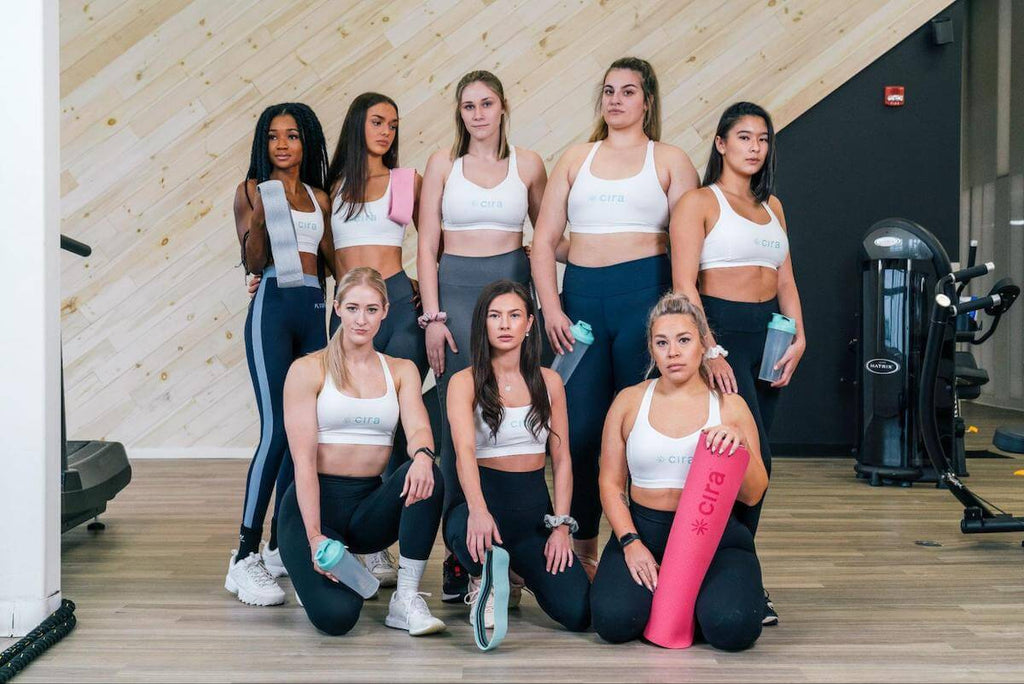 Group of women in Cira workout attire