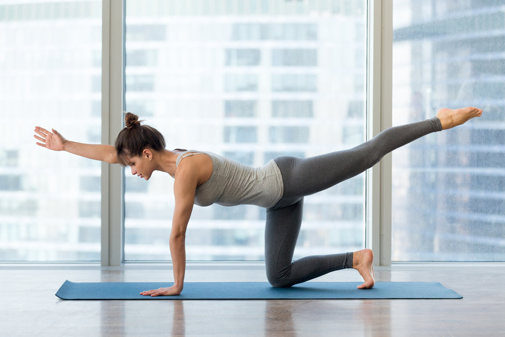 How to get a bigger butt: Woman doing yoga