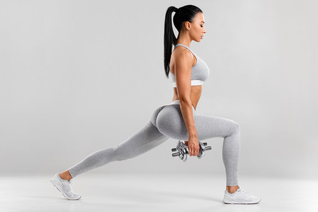 How to get a bigger butt: Woman doing lunges
