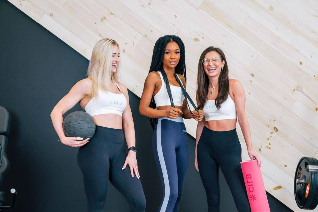 Group of fit, happy women