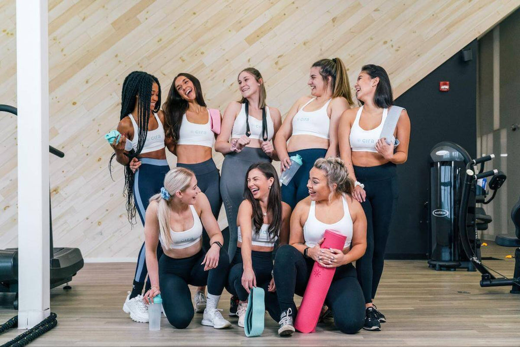 Group of happy, fit women