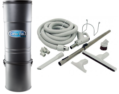 Canavac CV-787 Straight Air Central Vacuum Package - Mobile Vacuum