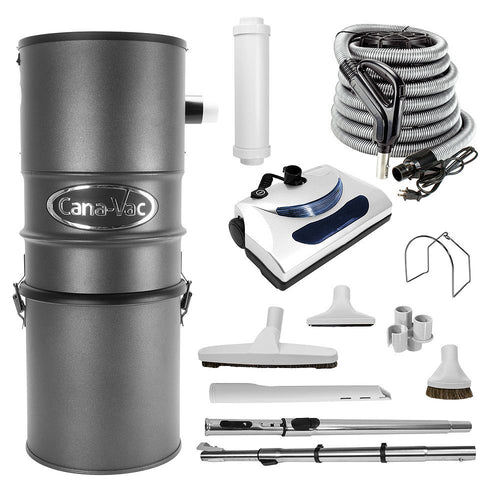 Canavac 700 Airwatt Electric Central Vacuum Package (Condo Size) - Mobile Vacuum