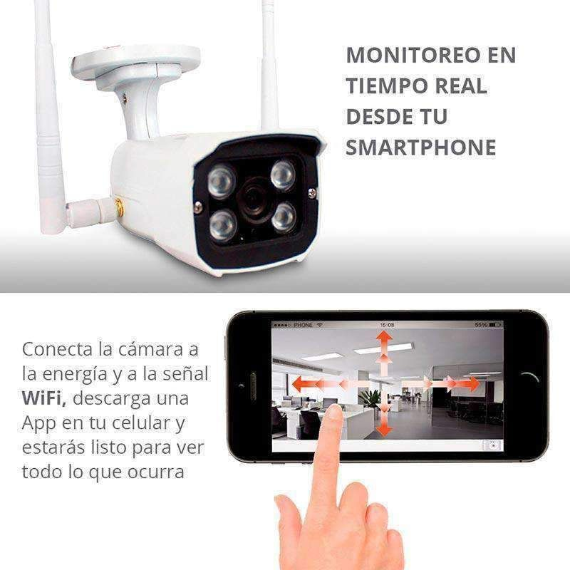 Cámara de Vigilancia Para Exteriores Wifi IP, High Definition Red Lemon