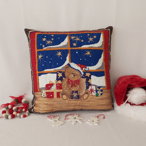 Christmas bear cushion