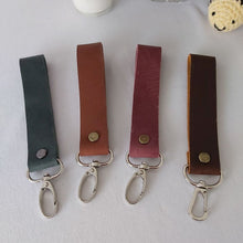 Load image into Gallery viewer, Red Leather Keyring - Wide