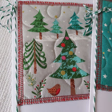 Load image into Gallery viewer, Quilted Christmas Card - rectangle
