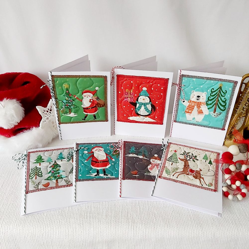 Quilted Christmas Card - rectangle
