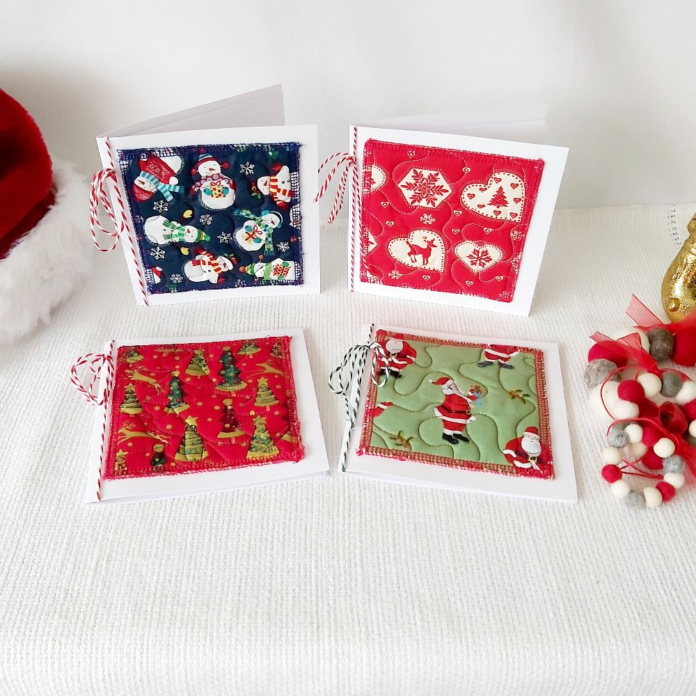 Quilted Christmas Card - medium square