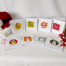 Load image into Gallery viewer, Quilted Christmas Card - medium square