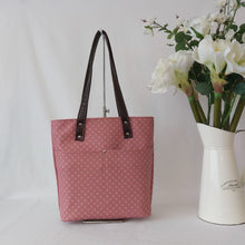 Load image into Gallery viewer, Urban Tote - Blush Pink and and Rich Metallic Circles