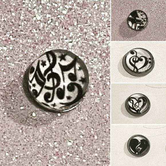 Music themed studs