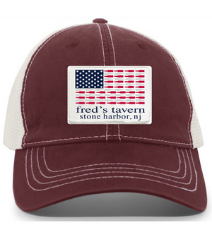 Flag Patch Hat - Maroon