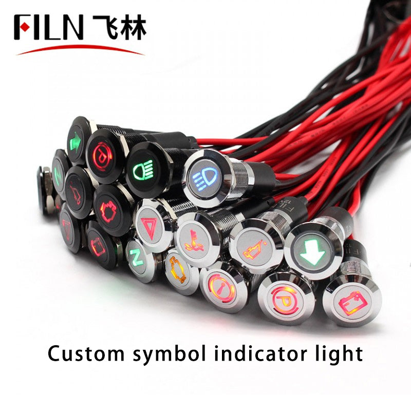 LED Alternator indicator light 12V Red ABS indicator light