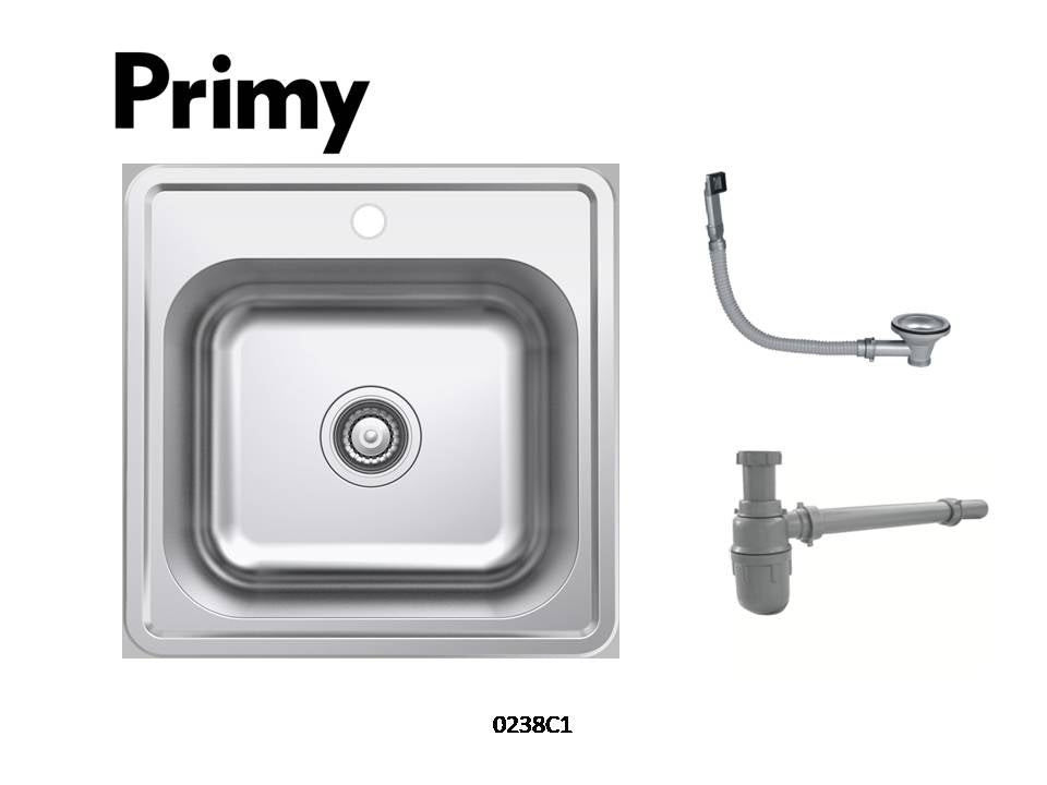 Primy 1B 19 x 19 Sink with Round Overflow 0238C1
