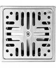 "Load image into Gallery viewer, VRH 4"" Floor Drain Square 2"" Outlet W002AS"