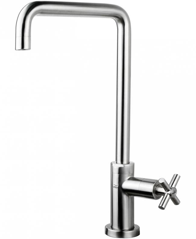 VRH Smooth Sink Pillar Tap U Spout (cold) B1000D1