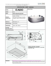 Load image into Gallery viewer, Eago Corner Whirltub for 2 LH 180x120cm AM124JCW-1L