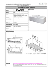 Load image into Gallery viewer, Eago Massage Tub 1700 x 720 x 600mm AM1700.8R