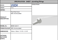 Load image into Gallery viewer, WDI Front Left Flush Lever ABS B5065GASV1