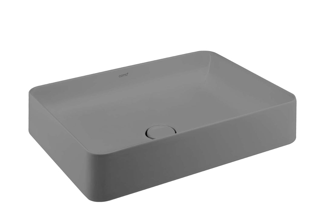COTTO Sensation Rectangle Basin Grey C00342GY