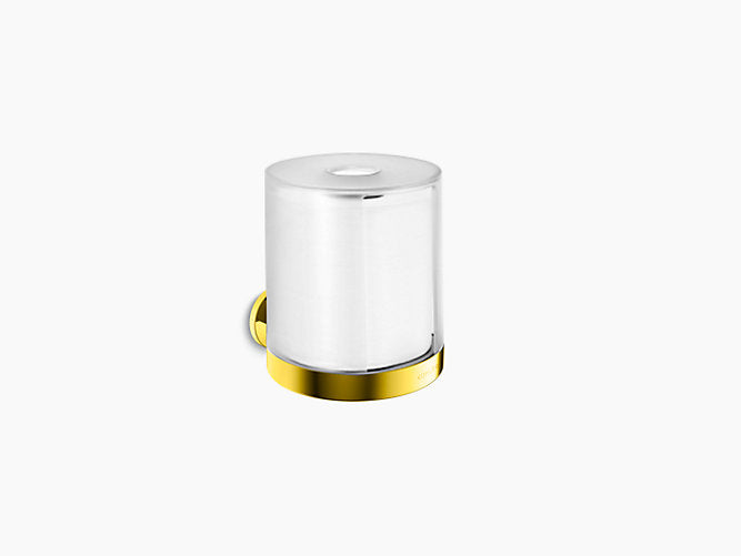 Kohler Roll Holder w/lid Stillness Gold K14388T-PGD