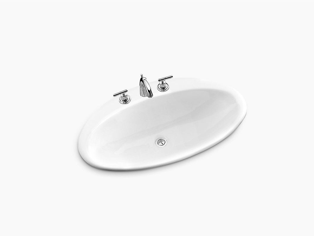 Kohler Lavatory Ellipse Self-Rim Cast Iron K2886T-8-0