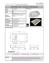 Load image into Gallery viewer, Lautus LT Mild Basin w/ Drain Cover 550x350 Gal MILD5535-GL