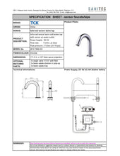 Load image into Gallery viewer, TCK Basin Tap (Sensor at Outlet) AC/DC 201LT49S AC/DC