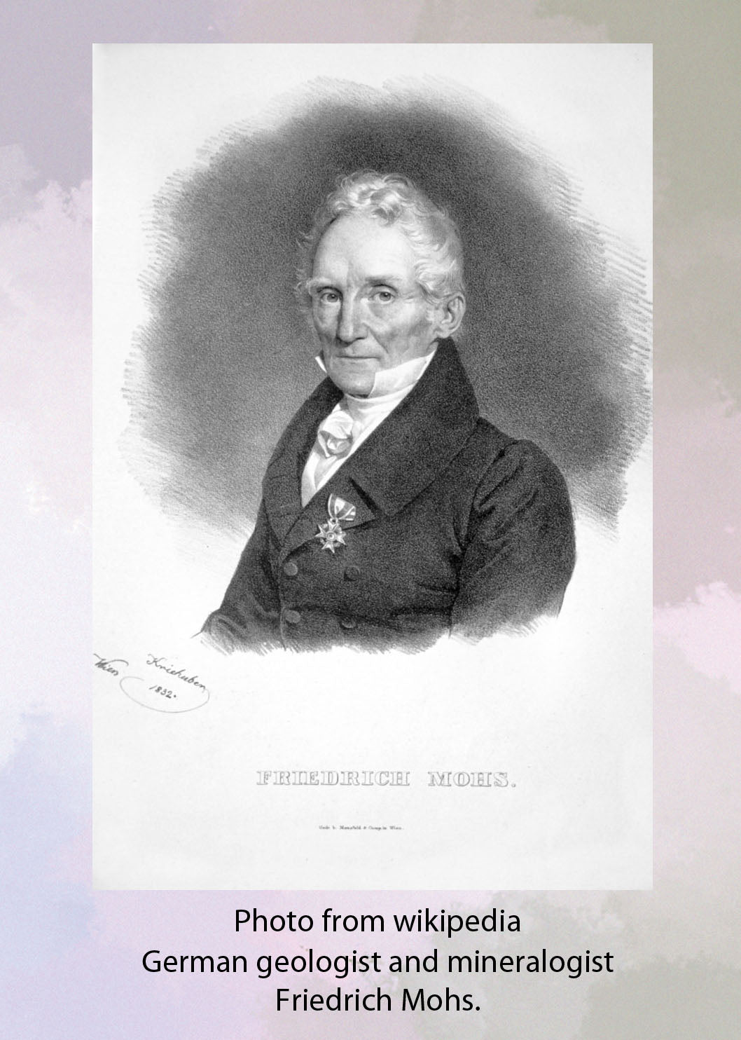 German geologist and mineralogist Friedrich Mohs photo picture