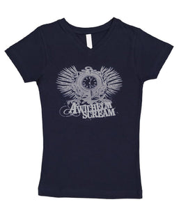 A Wilhelm Scream Anchor Womens V-Neck