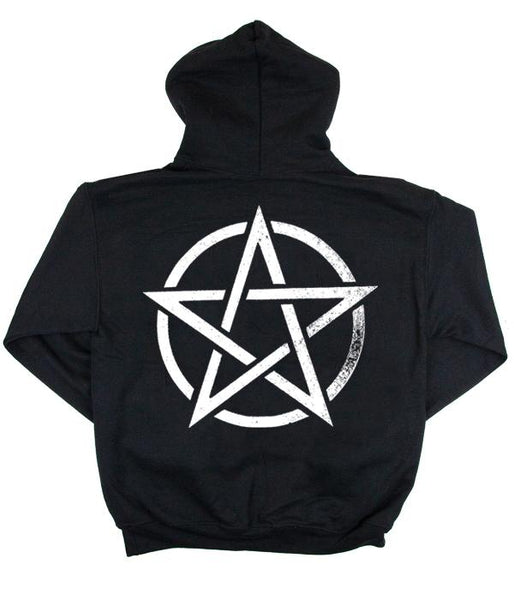 Poorstacy Pentagram Pullover Hooded Sweatshirt