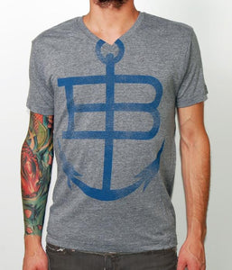 Anchor & Braille Logo V-Neck Shirt