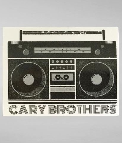 Cary Brothers Lovin On You Sticker
