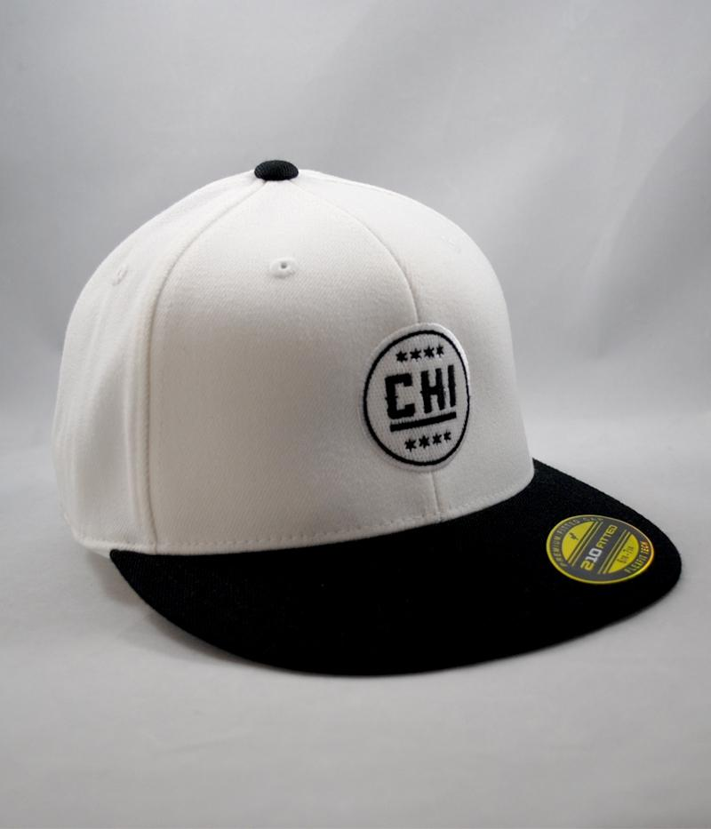 Chicago Hockey Initiative CHI Logo Flexfit Hat (White)