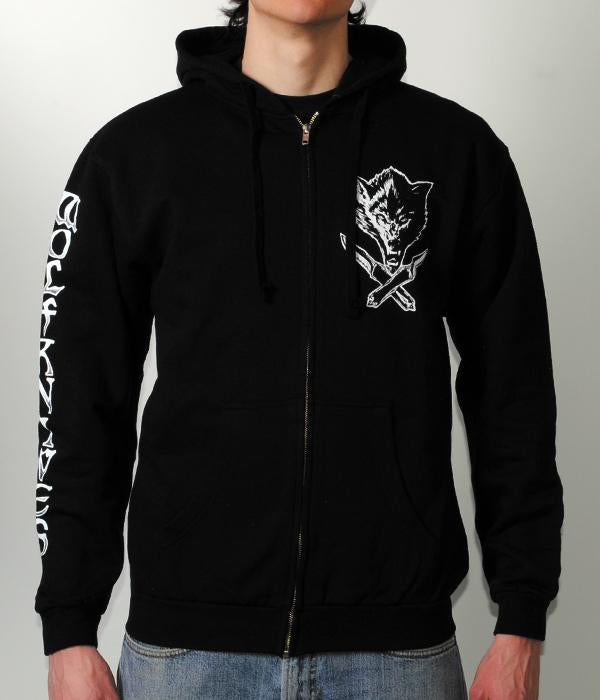 Jason Ellis Wolfknives Zip Hooded Sweatshirt