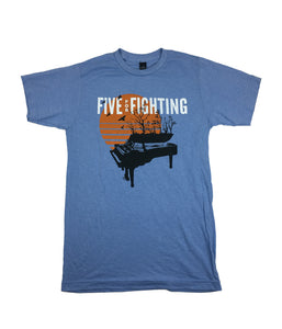 Five For Fighting Sunset Piano Shirt (Lt Blue)