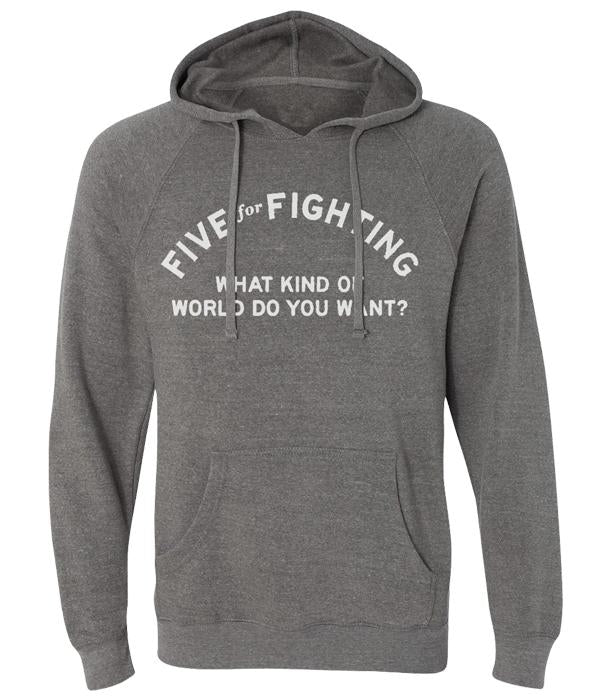 Five For Fighting World Pullover Hooded Sweatshirt