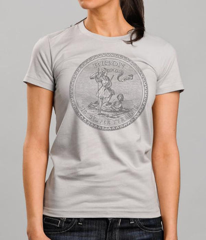 Bison Seal Womens Shirt