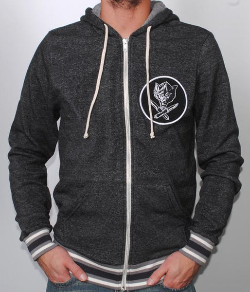 Jason Ellis Wolfknives Patch Fleece Zip-Hood
