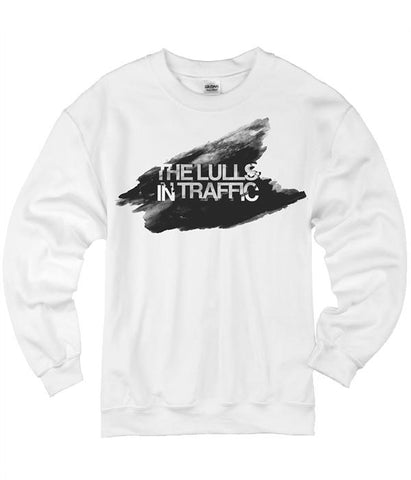 The Lulls In Traffic Black Watercolor Crewneck Sweatshirt