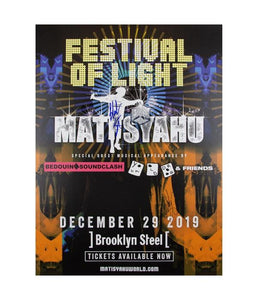 Matisyahu - Festival Of Light 2019 Poster (Signed)