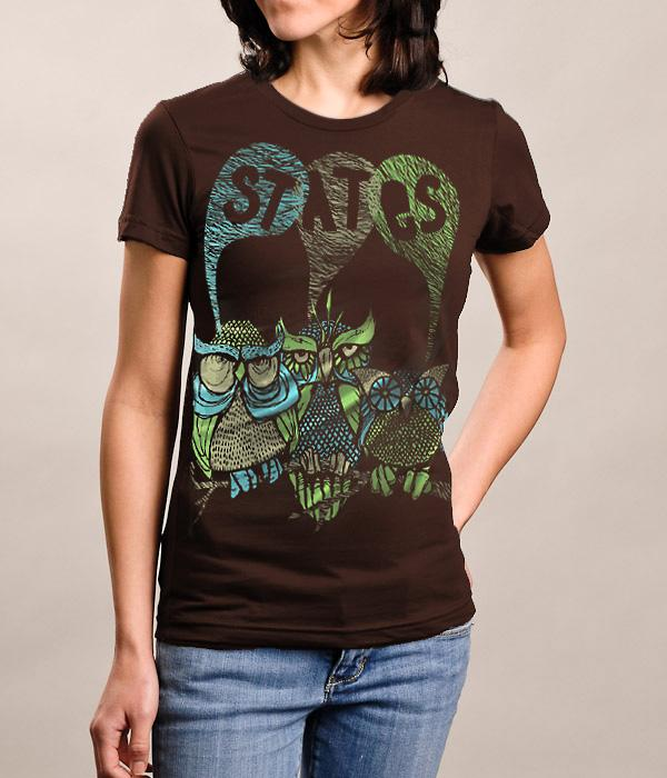 States Owl Womens Shirt