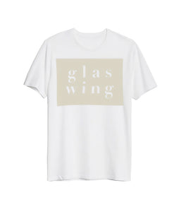 Glaswing Block Text Shirt (White) **PREORDER - SHIPS 05/07