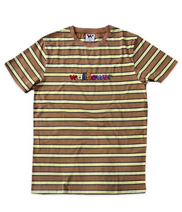 Whethan Wallflower Embroidered Logo Striped Shirt