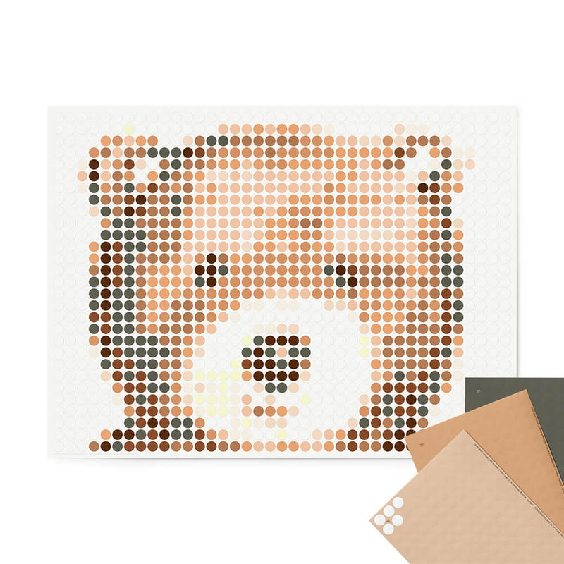 Bastelset mit Stickern | Motiv: teddy | 30x40 cm - dot on